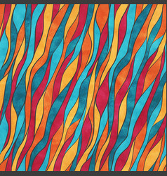Watercolor wavy lines vector