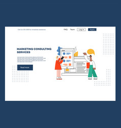 website page design vector image