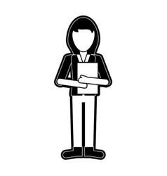 woman avatar full body vector image