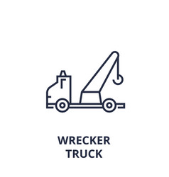 Wrecker truck line icon outline sign linear vector