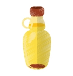 Colored maple syrup bottle traditional vector