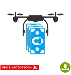 Drone Banknotes Payment Eps Icon vector image