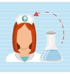 nurse health care service vector image vector image