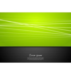 Abstract green and black background vector