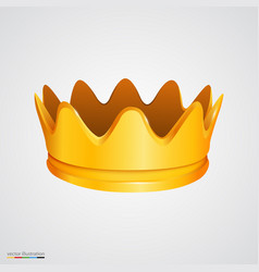 Bright golden crown on white background vector