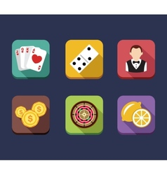 Casino game of fortune gambling roulette slot vector image vector image