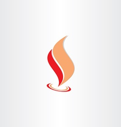 fire flame icon abstract logo element vector image