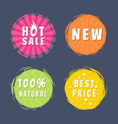hot sale new 100 natural best price promo stickers vector image