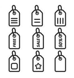 Icons Label Sticker vector image