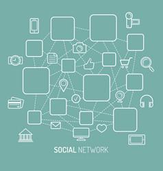 social network internet vector image
