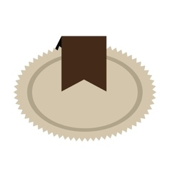 brown seal stamp with ribbon decoration vector image