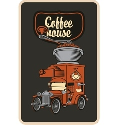 car and coffee grinder vector image vector image