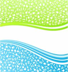 education lined art background vector image vector image