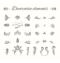 Hand drawn divders set Ornamental decorative vector image vector image