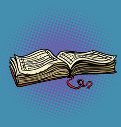 old account book vector image