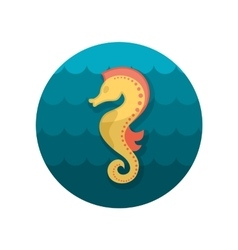 Sea Horse flat icon vector image