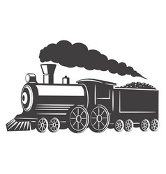 vintage train isolated on white background design vector image vector image