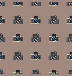 camera photo optic lenses seamless pattern vector image vector image