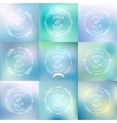 Collection of abstract blurred background vector image vector image