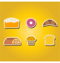 color icons with baking vector image