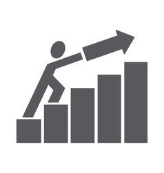 man pushing trend up vector image vector image