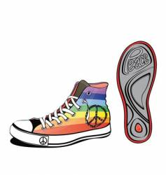 peace shoe vector image vector image