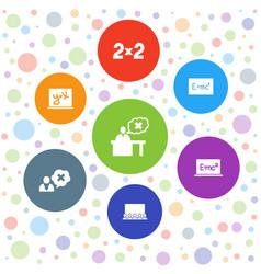 7 teach icons vector