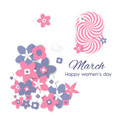 8 march international women s day greeting card vector