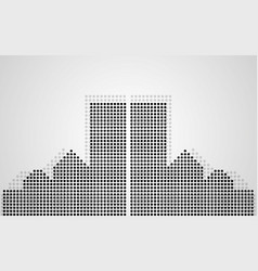 Abstract city of dots vector