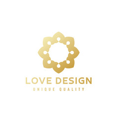abstract emblem sign gold gradient on quality vector image