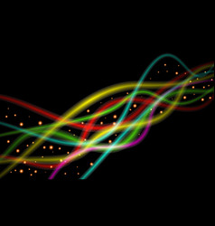 abstract glowing colorful background with vector image