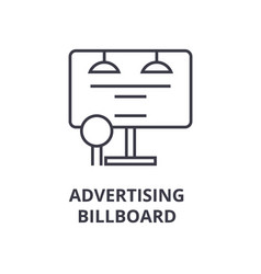 advertising billboard line icon outline sign vector image