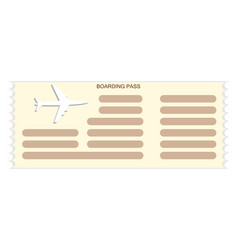airplane ticket or boarding pass icon vector image