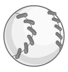 Baseball icon black monochrome style vector