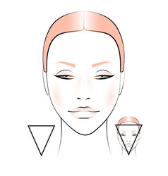 Beauty and fashion female face vector