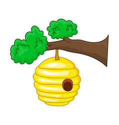 beehive hanging from a branch vector image