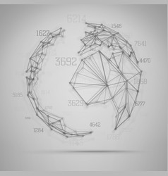 big data visualization abstract earth globe vector image