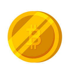 bitcoin gold coin finance money vector image