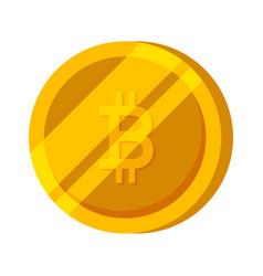 bitcoin gold coin finance money vector image