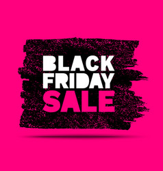 Black friday sale banners pink color background vector