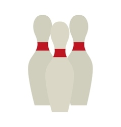 bowling pin set game design vector image