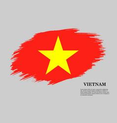 brush stroke flag vector image