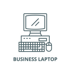 business laptop line icon linear concept vector image
