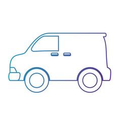 car vehicle van icon vector image