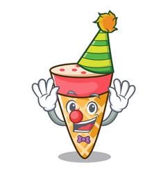 Clown ice cream tone mascot cartoon vector