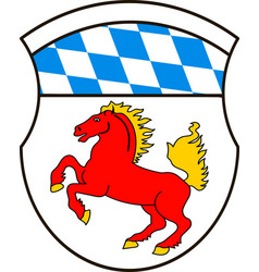 Coat of arms of erding is a district in bavaria vector