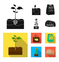 Company ecology and other web icon in blackflat vector