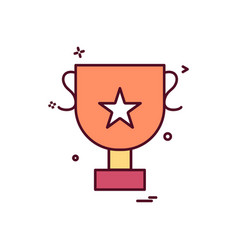 cup trophy icon design vector image