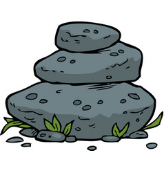 Doodle stacked stones vector