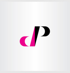dp letter d and p logo icon sign element vector image
